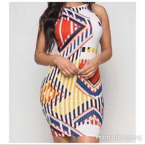 Dresses & Skirts - Printed Bodycon Dress